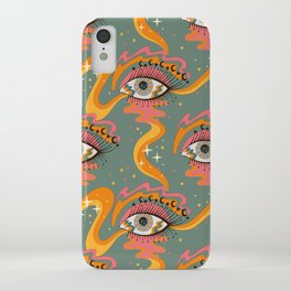 Cosmic Eye Retro 70s, 60s inspired psychedelic iPhone Case