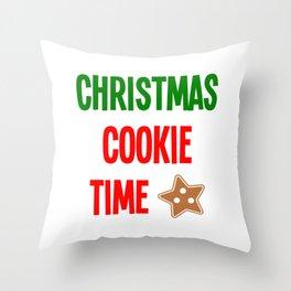 Christmas Cookie Time Merry Christmas Throw Pillow