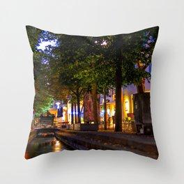 Laubach Laupheim by night Throw Pillow