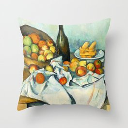 Basket of Apples Painting Paul Cezanne French Impressionism Still Life Painting Home Decor Kitchen Throw Pillow