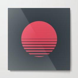 Red Sun Metal Print