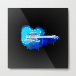 Watercolor guitar Metal Print
