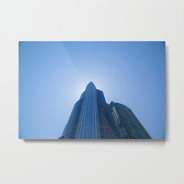 High Rise above Chicago Metal Print