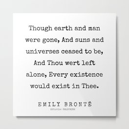 78   | 200211 | Emily Bronte Quotes | Metal Print