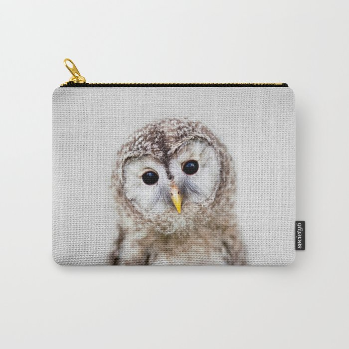 Baby Owl - Colorful Carry-All Pouch