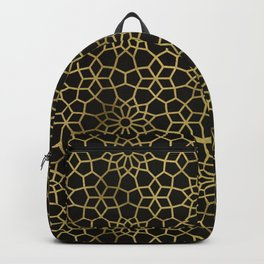 Persian Mosaic – Black & Gold Backpack