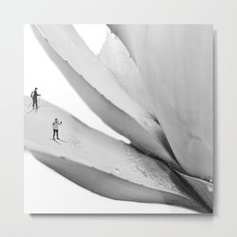 september skiing Metal Print