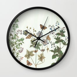 The fragility of living - botanical illustration Wall Clock