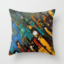 SoapsAndRoses: Diagonal Cityscape Throw Pillow
