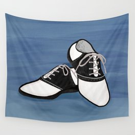 1950s Saddle Shoes Fashion Wall Tapestry