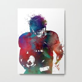 American football player #football #sport Metal Print