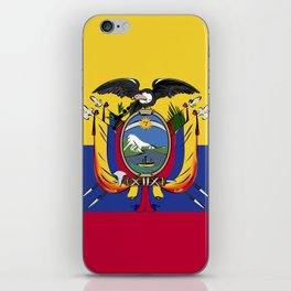 Ecuador flag emblem iPhone Skin