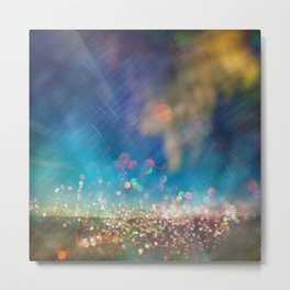 Fairy Dust Glitter Metal Print