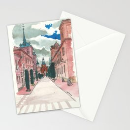 Cloudy street Stationery Cards