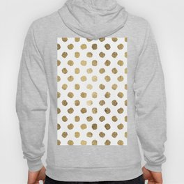 Luxurious faux gold leaf polka dots brushstrokes Hoody