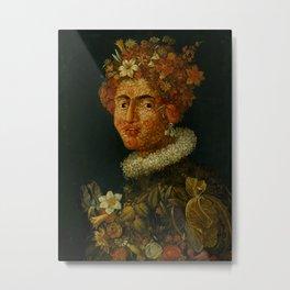 "Follower of Giuseppe Arcimboldo ""Anthropomorphic allegory of spring"" Metal Print"