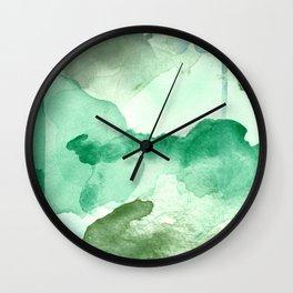 Meadow Pool Abstract Wall Clock