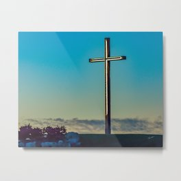 The Cross on the Hill Metal Print