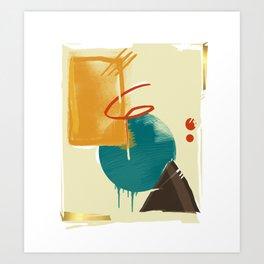 abstract retro pattern Art Print