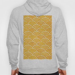 Japanese Seigaiha Wave – Marigold Palette Hoody