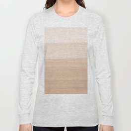 Touching Warm Beige Watercolor Abstract #1 #painting #decor #art #society6 Long Sleeve T-shirt