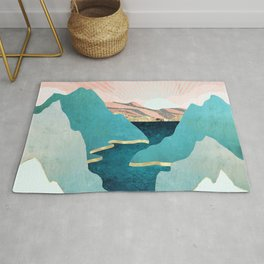 Mint Mountains Rug