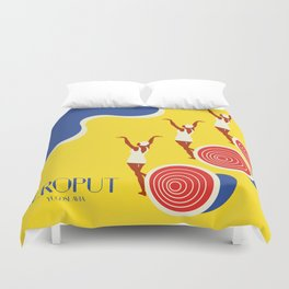 "EX-JU poster ""AEROPUT"" Duvet Cover"