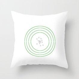 Group Therapy Target Gun Lover Shooting Range Throw Pillow