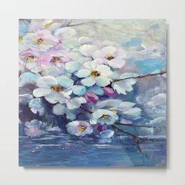 Apple tree above water Metal Print