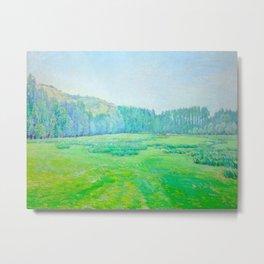 "Václav Radimský (1867-1946) ""Louka u lesa"" Impressionist Landscape Oil Painting Metal Print"