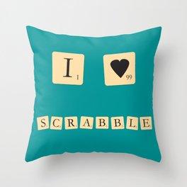 I heart Scrabble Throw Pillow
