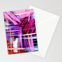 oil pastels abstract pattern Stationery Cards