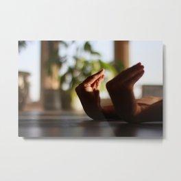 [17] Hands in Yoga practice, tension, yoga pose, energy, practice, indoors, plants, body parts Metal Print