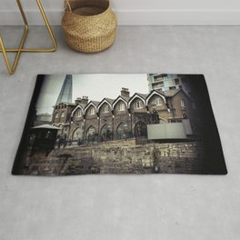 Shard in Background of Tower of London Gift Shop Historic Building England Rug
