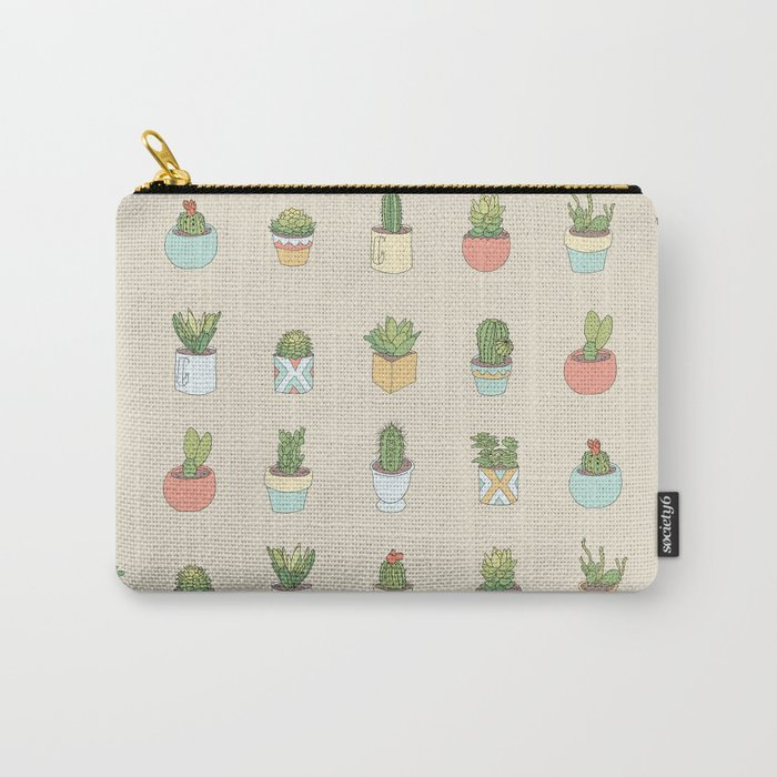 Cute Succulents Carry-All Pouch
