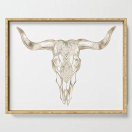 Bull Skull Gold Serving Tray