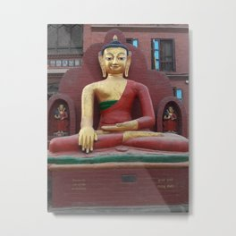 Buddha from The Monkey Temple - Kathmandu, Nepal Metal Print