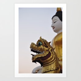 Buddha and Dragon II (Travel & Thailand)  Art Print