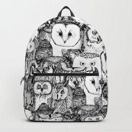just owls black white Backpack