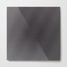 Soft Parisian Stripes Metal Print