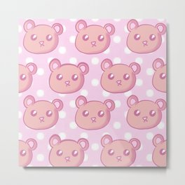 Teddies and Polka Dots Metal Print