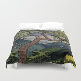 The Downwards Climbing Duvet Cover