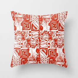 African tribal aborigines ornament Throw Pillow