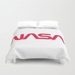 NASA worm logo Duvet Cover