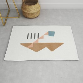 How I remember my house - abstract simplicity Rug