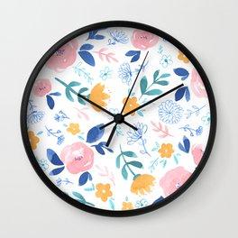 Lillian Floral Wall Clock