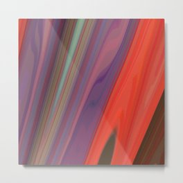 Splashes of Color (purple, corals, and gold) Metal Print