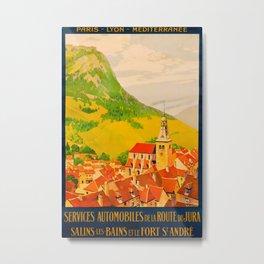 Route de Jura Vintage Travel Poster Metal Print