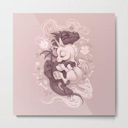Dragon and Unicorn Metal Print
