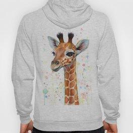 Giraffe Baby Watercolor Hoody